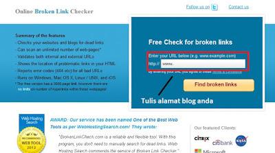 Cara mengetahui Link Blog yang Rusak di Broken Link dan Cara Mengatasinya