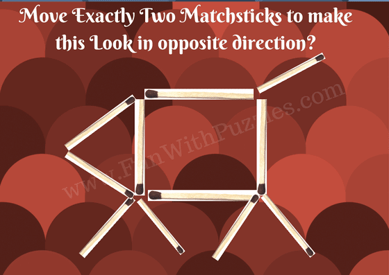 Matchstick Puzzle for kids-Dog