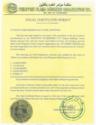 FrontRow Halal Certificate Permit