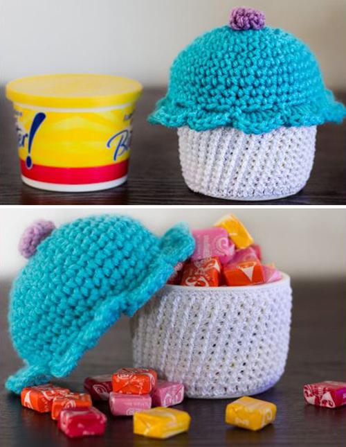 Amigurumi Cupcake Container - Free Pattern