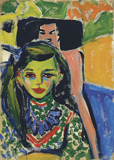 Kirchner - Fränzi ante una silla tallada (1910)