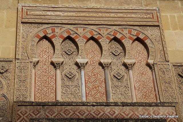 detalhes da Mesquita-Catedral de Córdoba, Espanha