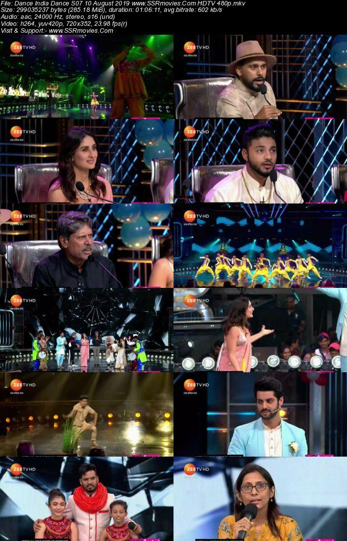 Dance India Dance S07 10 August 2019 HDTV 480p Full Show Download