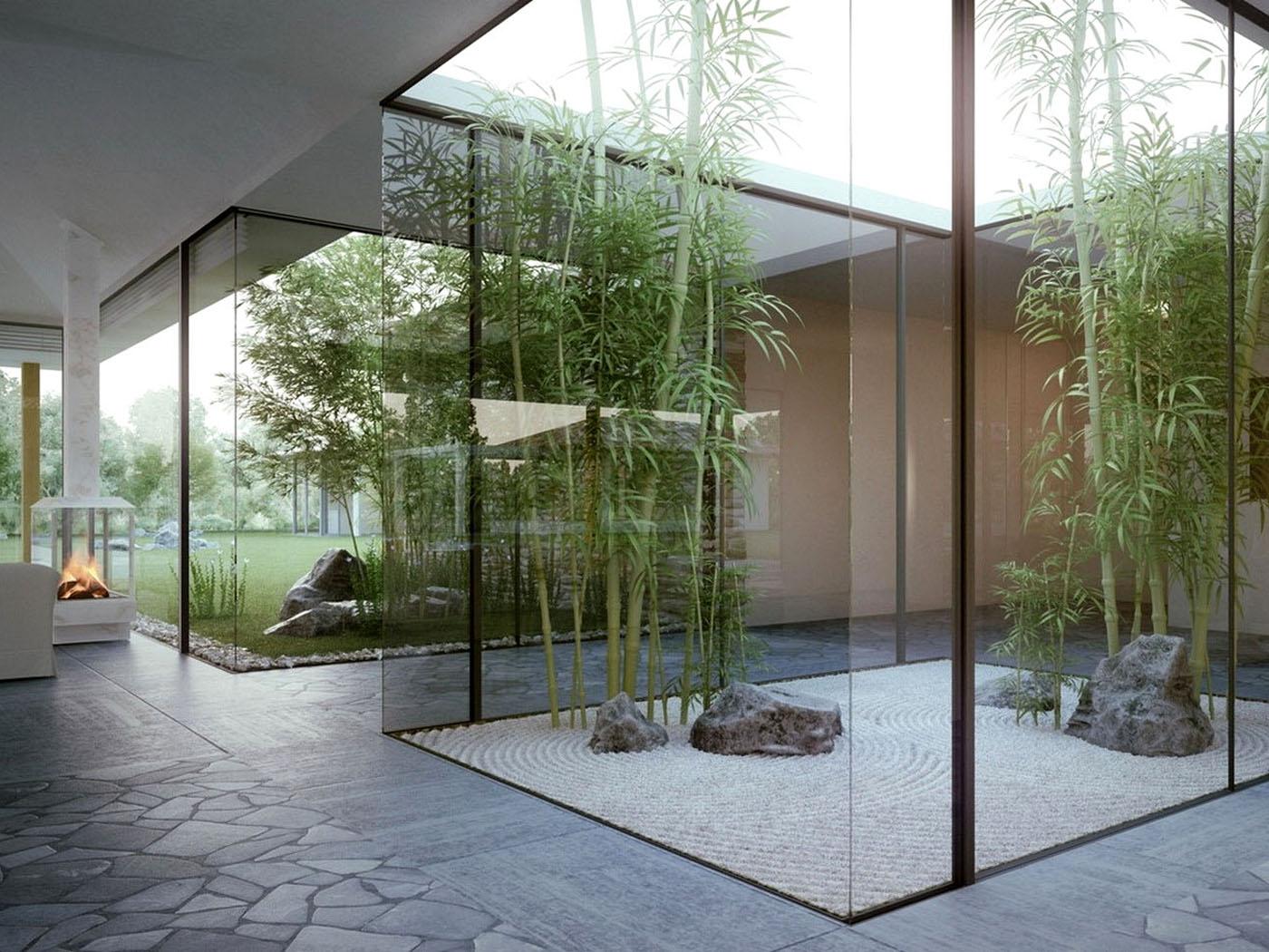 ideas para jardines interiores de casas