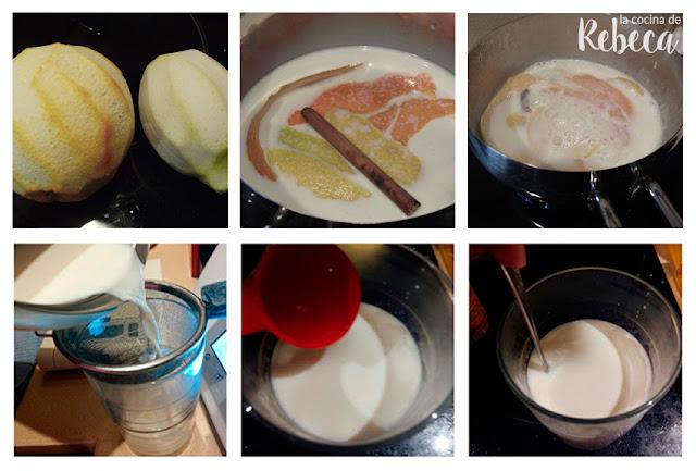 Receta de roscón de Reyes: infusión de leche