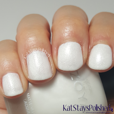 Zoya Matte Velvet 2015 - Aspen | Kat Stays Polished