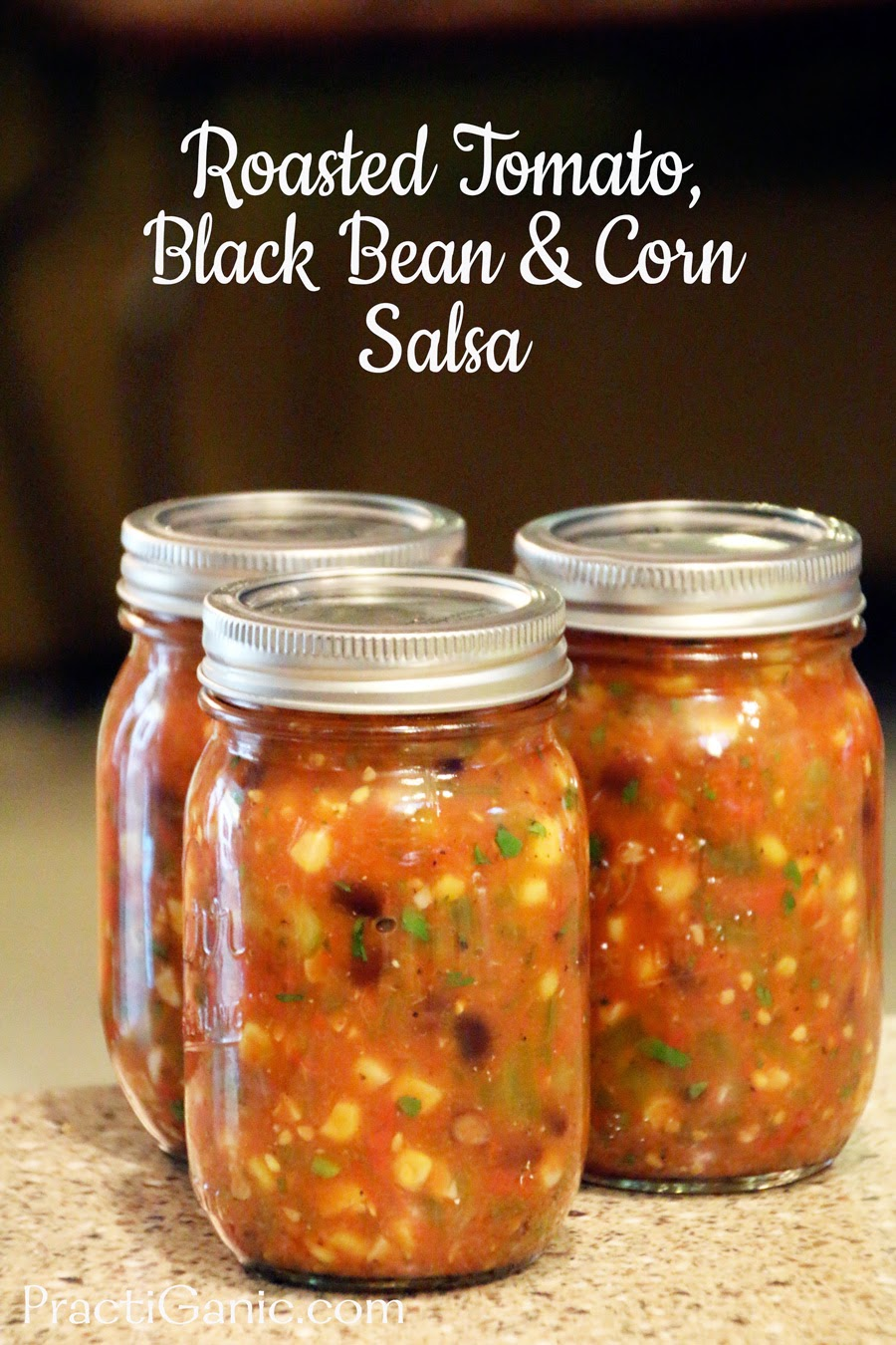 Roasted Tomato, Black Bean and Corn Salsa: Easy to Can Recipe