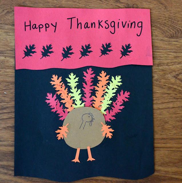 turkey leaf craft, preschool turkey craft