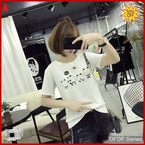 OFDF312 Atasan Kaos Ineke Panda Modis BMGShop