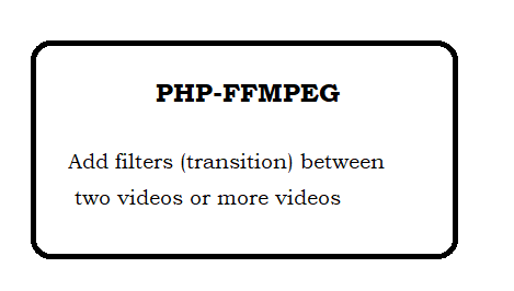 How to add filters (transition) between two videos using php-ffmpeg?