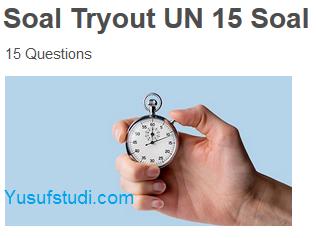 Tryout UTBK Gratis Matematika 15 Soal