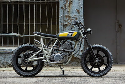 "Yamaha SR 500 ""Street Tracker"" by Powder Monkees"