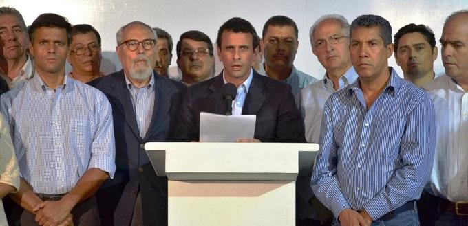 Miembros de la oposición en Venezuela