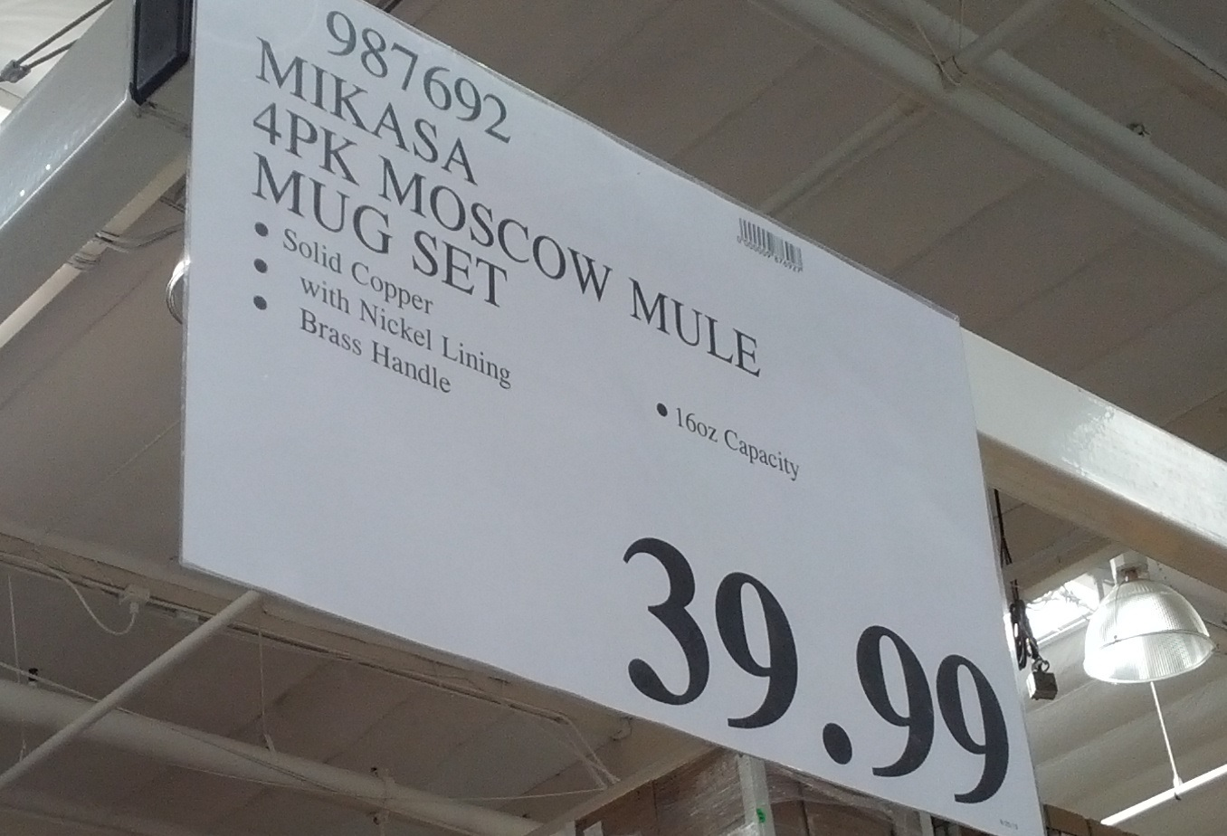 Deal For Mikasa Moscow Mule Mugs At Costco