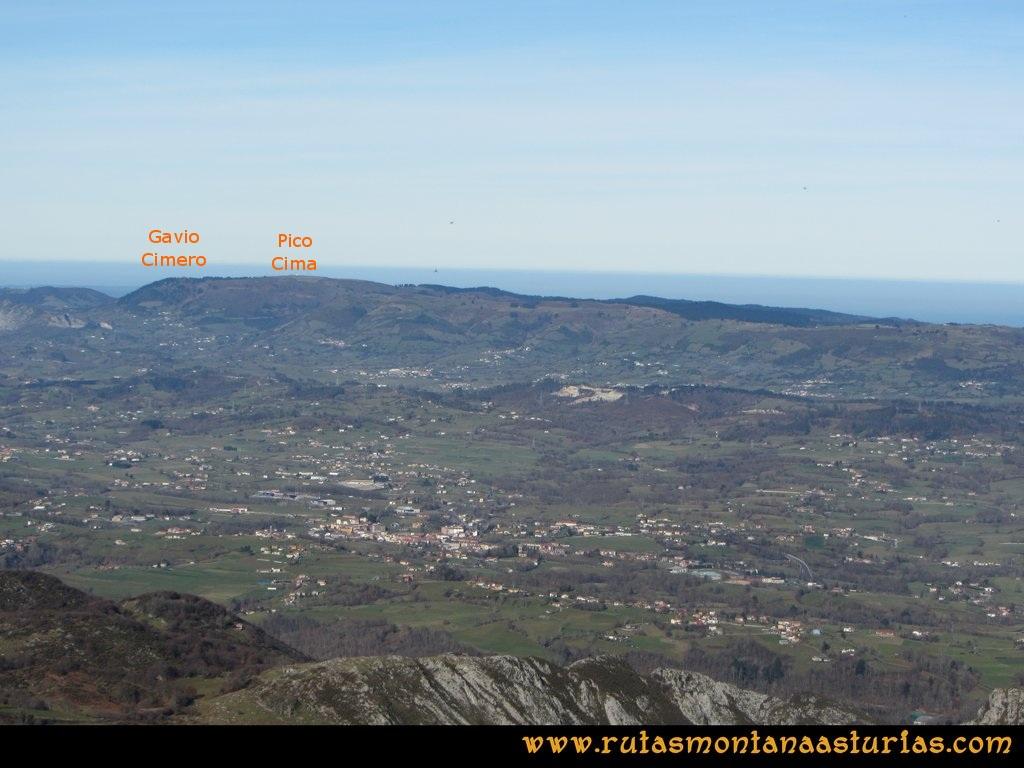 Pico Mua PR AS 46 Desde el pico Múa, vistas de los picos Gavio Cimero y Pico Cima