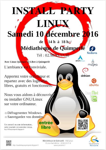 Install Party Médiathèque de Quimperlé