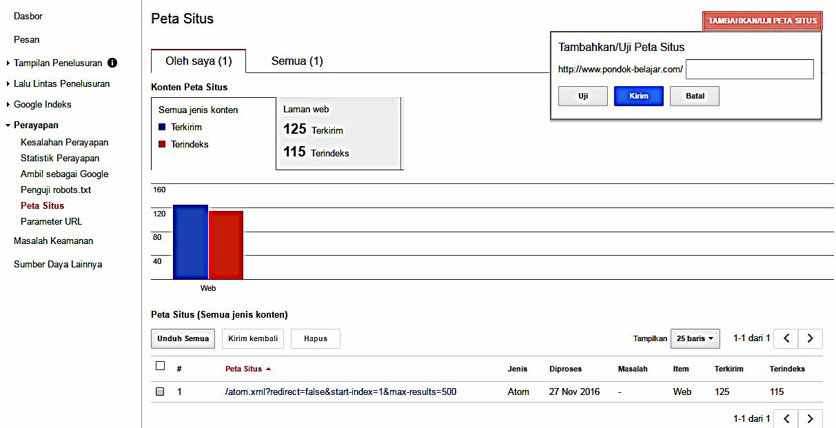 Cara Submit Sitemap Ke Google Webmaster Tools