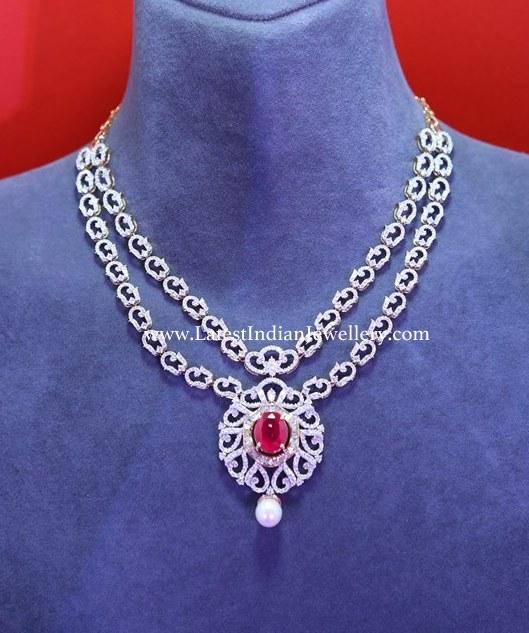 2 Step Diamond Necklace