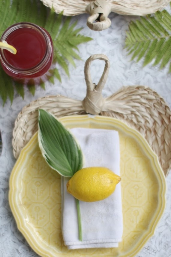Cute lemon place setting for Sukkot | Land of Honey
