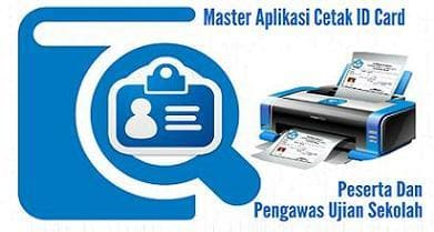 Format Excel Master Aplikasi Cetak ID Card Peserta Dan Pengawas Ujian Sekolah