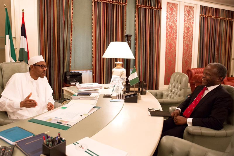 President Buhari resumes work after returning from London trip