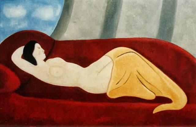 Juan Navarro Ramón desnudo pintura posguerra