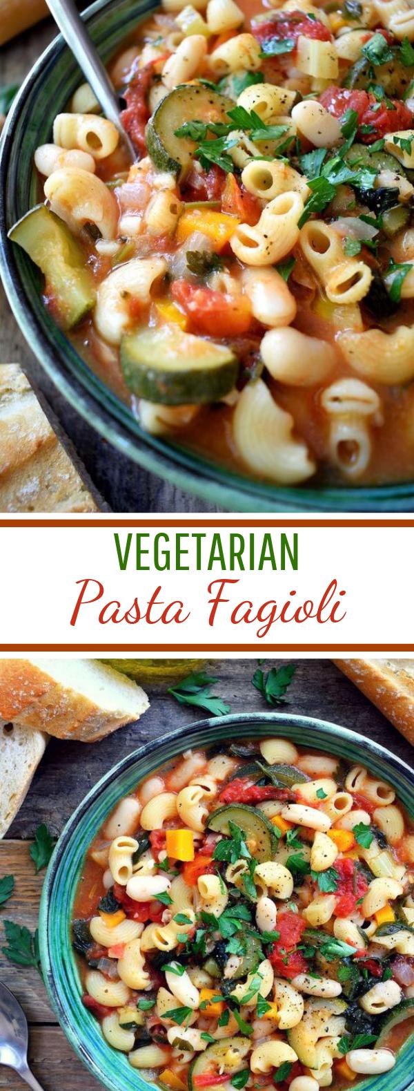 Vegetarian Pasta Fagioli #vegan #pasta