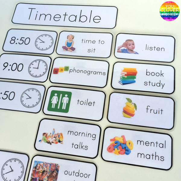 Editable Visual Timetable Cards | you clever monkey