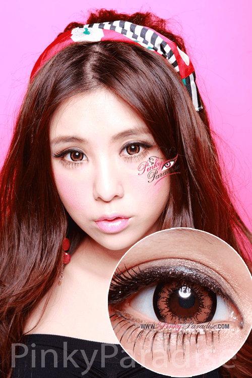Geo Super Size Angel Brown Circle Lenses (Colored Contacts)
