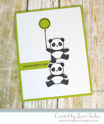 Birthday Pandamonium card-designed by Lori Tecler/Inking Aloud-stamps and dies from Mama Elephant