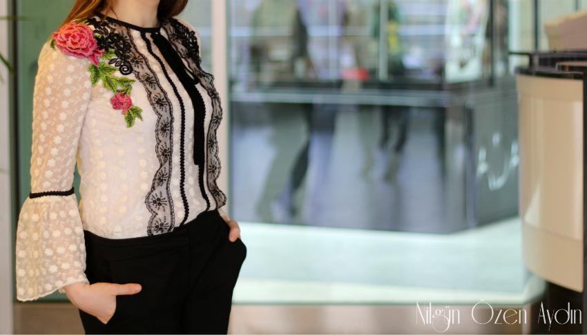diktiklerim-bluzlar-dantel ve güpür detaylı bluz dikimi-dikiş blogu-temel bluz kalıbı-volanlı kollar