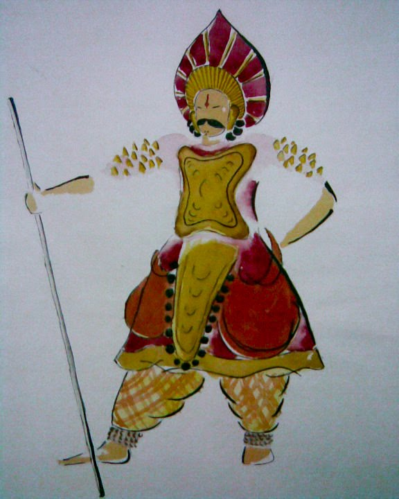 Pencil Sketches Of Yakshagana Under Town