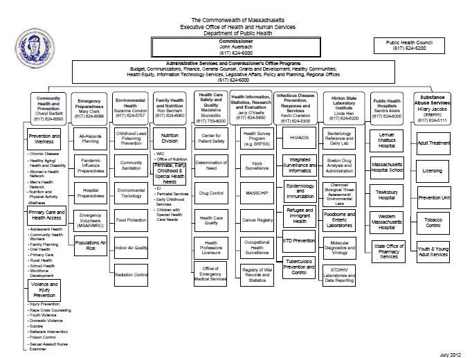 Hospital Finance Organizational Chart