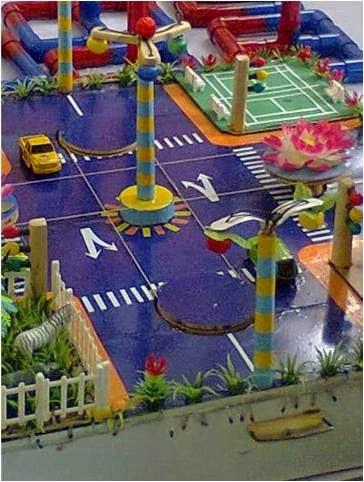 Dồ dùng dạy học tiểu học mô hình an toàn giao thông