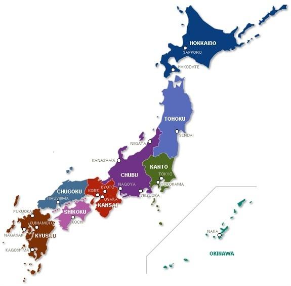 แผนที่ญี่ปุ่น