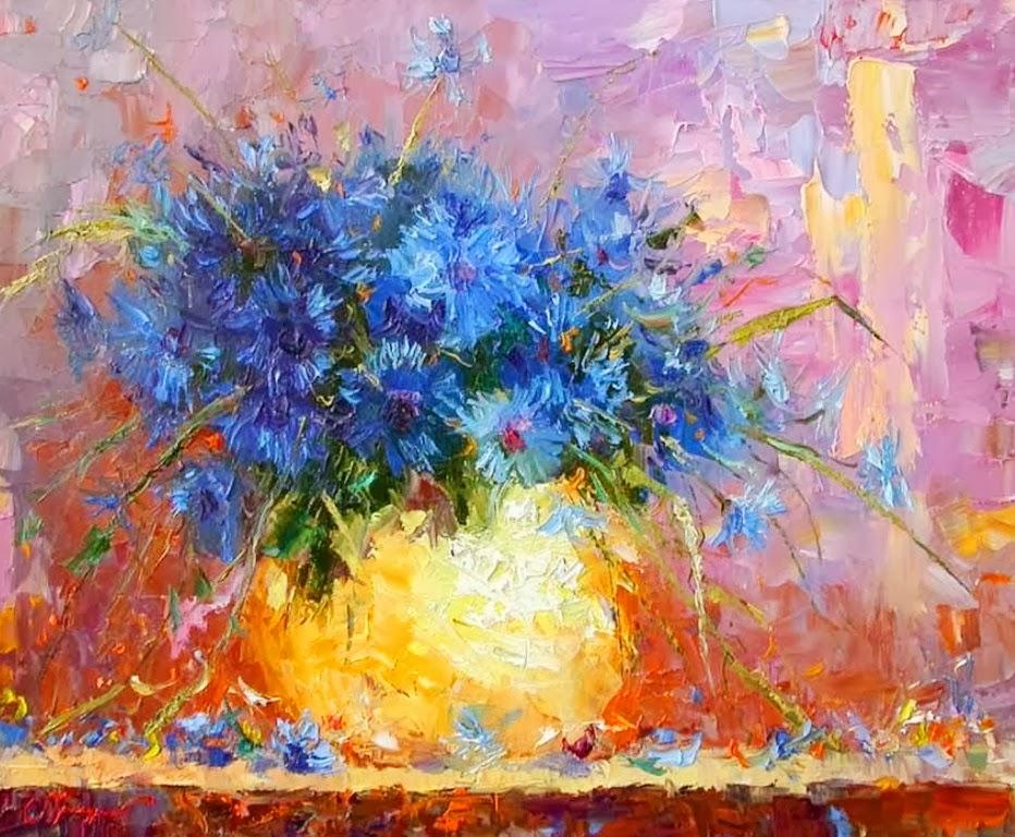 Pinturas cuadros lienzos pinturas de floreros arte - Pinturas bodegones modernos ...