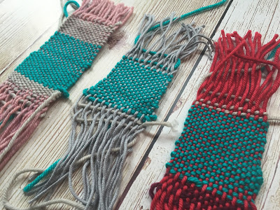 Knitting Like Crazy: Stitches Midwest Weaving Swatches