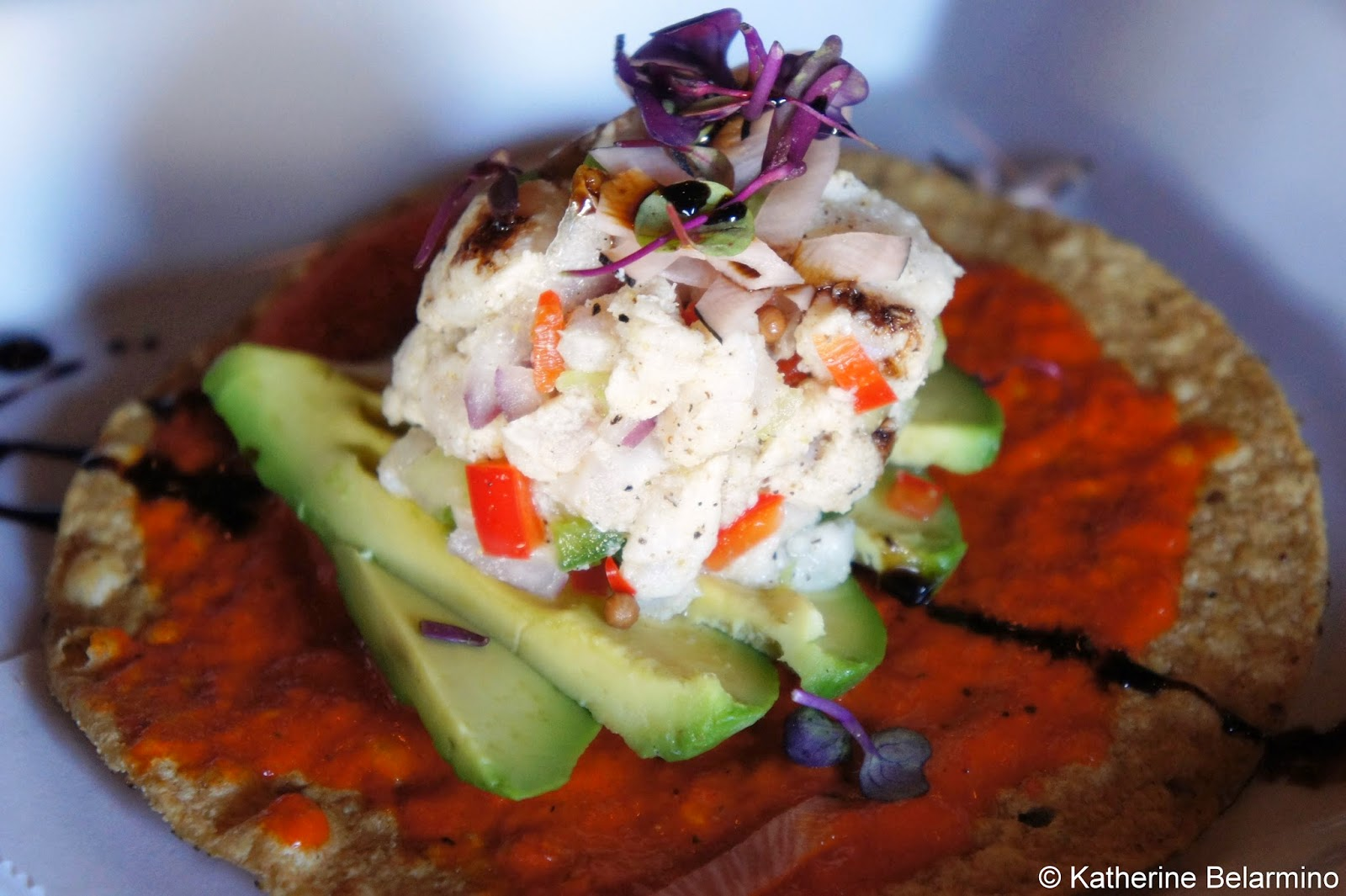Rock Fish Tostada Cueva Bar San Diego
