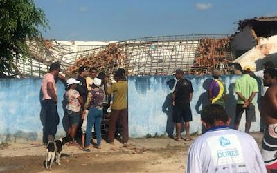 Em escola de Sergipe, caixa d'água desaba e mata duas crianças