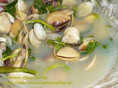 Clam with Ginger Soup
