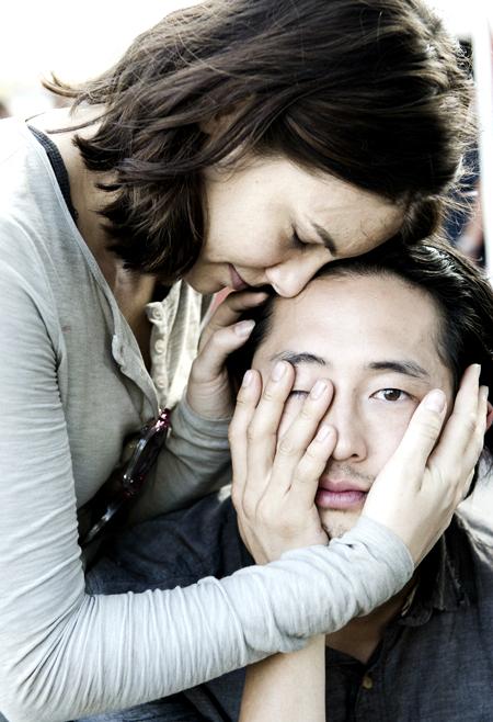 Glenn y Maggie de 'The Walking Dead'
