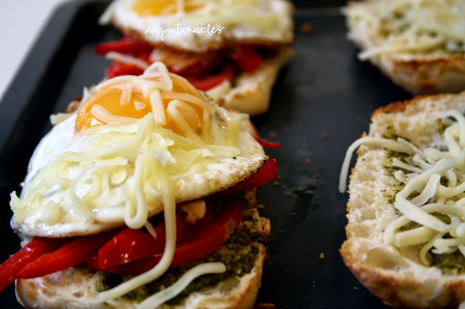 Finish these vegetarian and gluten free ciabattas off in the grill/broiler for a delicious crunch!