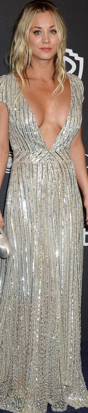 Kaley Cuoco 2017 Golden Globes After Party