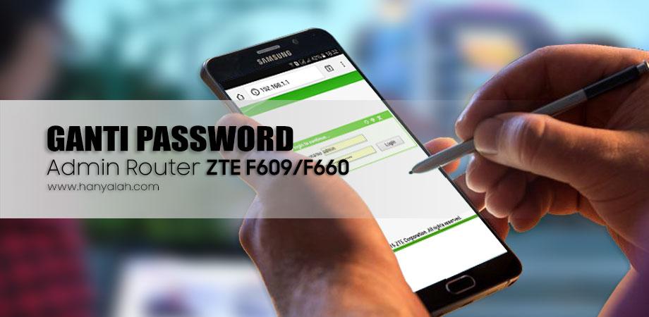 Cara Mengganti Password Router Indihome