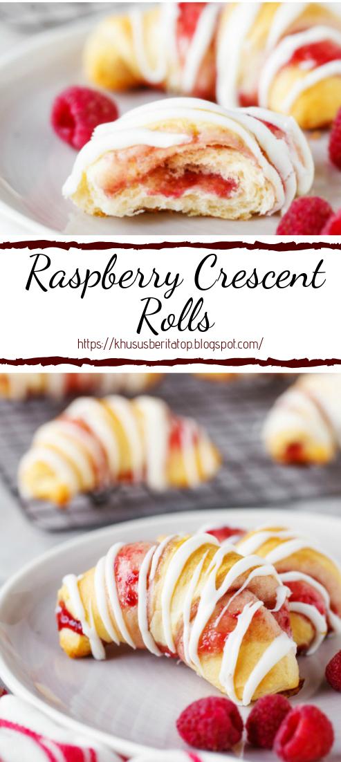 Raspberry Crescent Rolls #desserts #cakerecipe