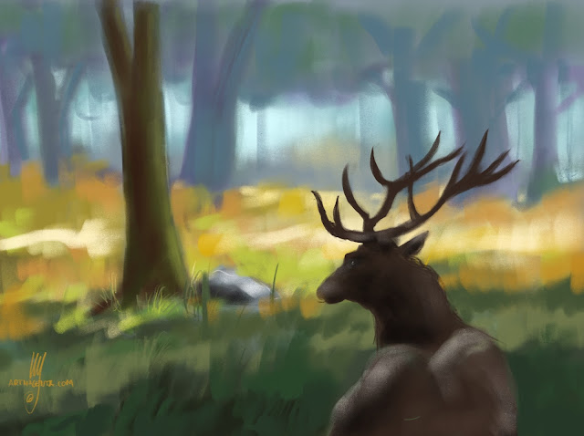 Deer by Artmagenta