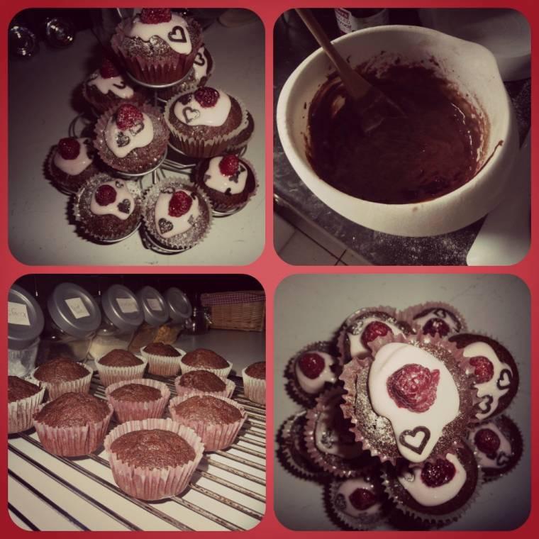 Britain Loves Beetroot: Beetroot And Raspberries  Chocolate Muffins