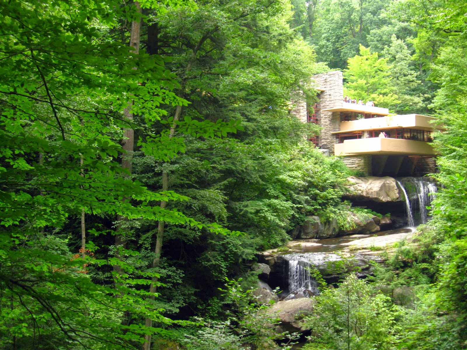 Fallingwater in the summer