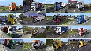 Painted truck traffic mod v 1.3 by jazzycat