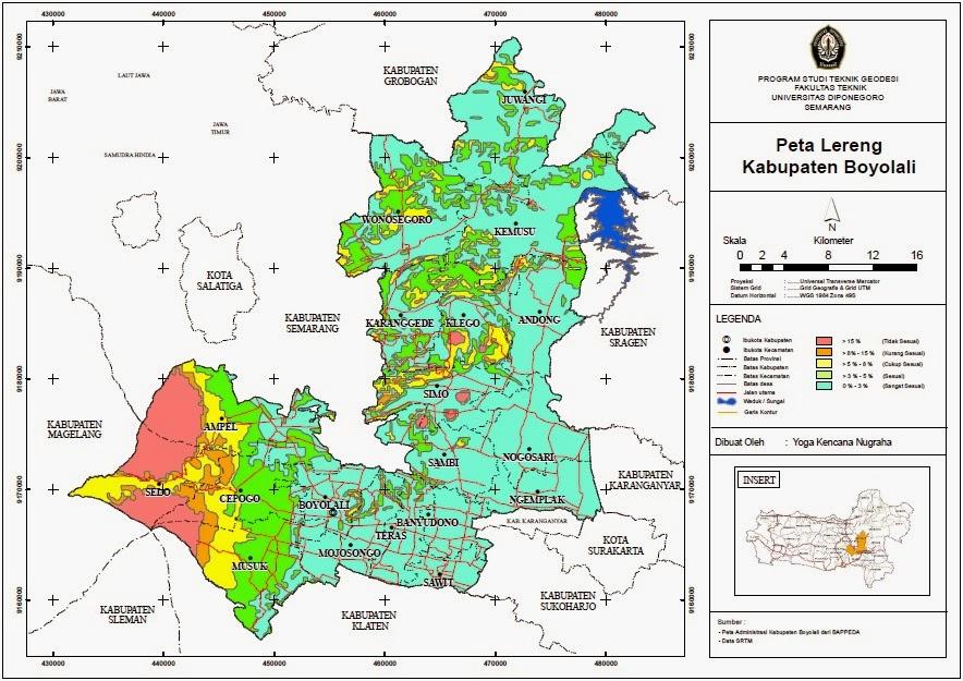 Kondisi Topografi Kabupaten Boyolali (Sistem Informasi ...